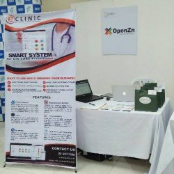 Our event booth in Dumaguete.