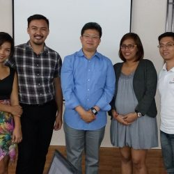 OpenZn with RTO Team, from left, Ms. Jovelle, Sir Leo, Sir Fred, Ms. Joanna and Reynar of OpenZn.